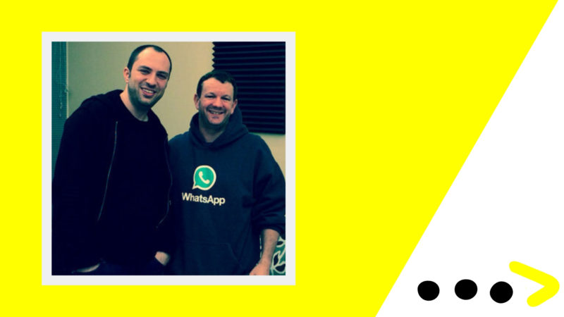WhatsApp Founders Brian Acton and Jan Koum.